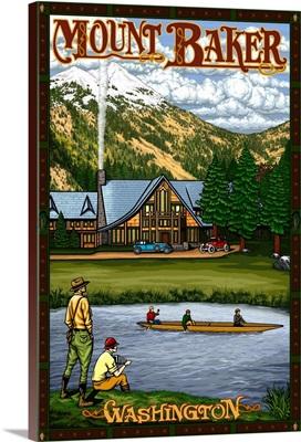 Mount Baker: Retro Travel Poster