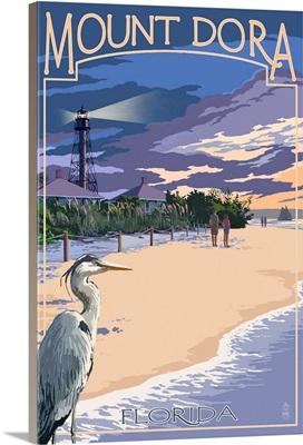 Mount Dora, Florida, Blue Heron and Beach