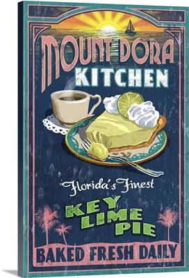 Mount Dora, Florida - Key Lime Pie Sign: Retro Travel Poster