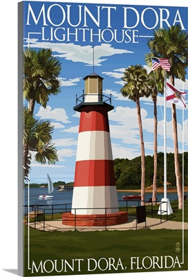 Mount Dora, Florida - Lighthouse: Retro Travel Poster
