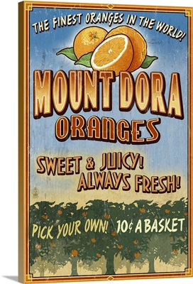 Mount Dora, Florida, Orange Orchard Sign