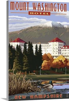 Mount Washington Hotel in Fall - Bretton Woods, New Hampshire: Retro Travel Poster