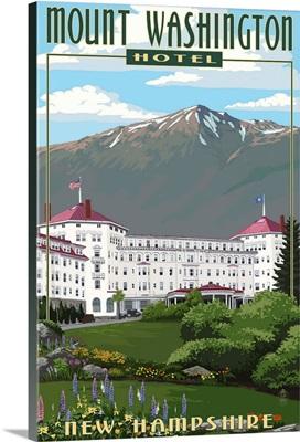 Mount Washington Hotel in Spring - Bretton Woods, New Hampshire: Retro Travel Poster