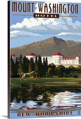 Mount Washington Hotel in Summer - Bretton Woods, New Hampshire: Retro Travel Poster
