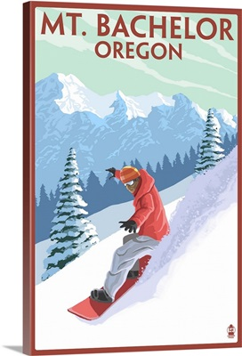 Mt. Bachelor, Oregon, Snowboarder Scene