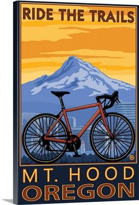 Mt. Hood, Oregon - Ride the Trials: Retro Travel Poster