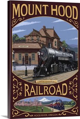 Mt. Hood Railroad - Hood River, Oregon: Retro Travel Poster
