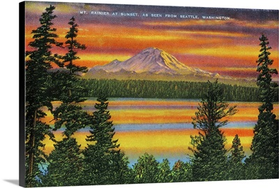 Mt. Rainier at Sunset, Mt. Rainier, WA