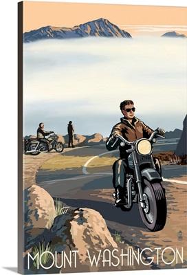 Mt. Washington Auto Road, New Hampshire, Motorcycle Scene