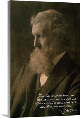 Muir Woods National Monument, California - John Muir Portrait: Retro Poster