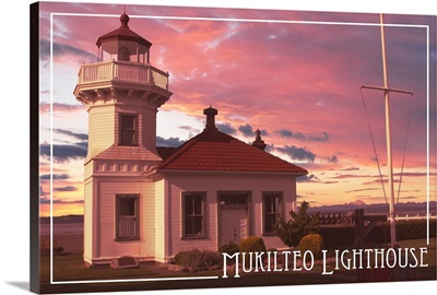 Mukilteo Lighthouse at Sunset, Mukilteo, Washington
