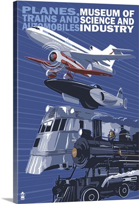 Museum of Science and Industry Vehicles - Chicago, IL: Retro Travel Poster