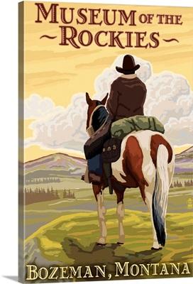 Museum of the Rockies - Bozeman, Montana: Retro Travel Poster