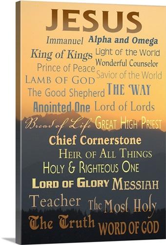 Names of God - Inspirational - Lantern Press Artwork: Retro Travel ...