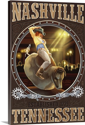 Nashville, Tennessee, Cowgirl and Mechanical Bull