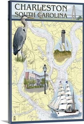 Nautical Chart, Charleston, South Carolina