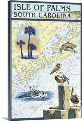 Nautical Chart, Isle of Palms, South Carolina