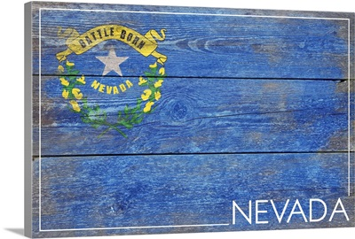 Nevada State Flag, Barnwood Painting