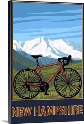 New Hampshire - Mountain Bike: Retro Travel Poster