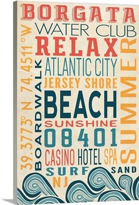 New Jersey Coast, Typography