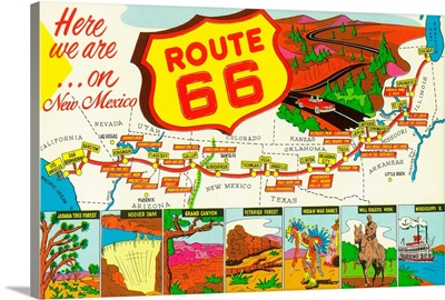 New Mexico, Route 66 Map