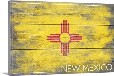 New Mexico State Flag, Barnwood Painting