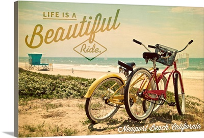 Newport Beach, California, Life is a Beautiful Ride, Bicycles and Beach Scene