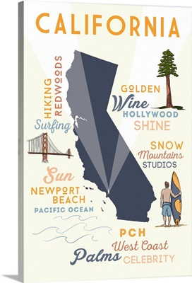 Newport Beach, California, Typography and Icons