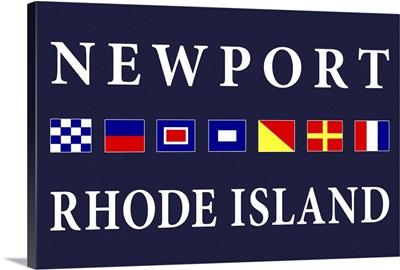 Newport, Rhode Island - Nautical Flags Poster