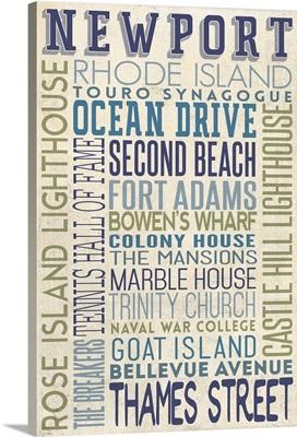 Newport, Rhode Island, Typography