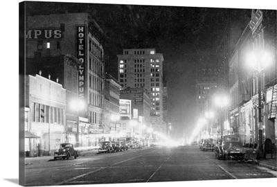 Night View of Pacific Avenue in Tacoma, WA