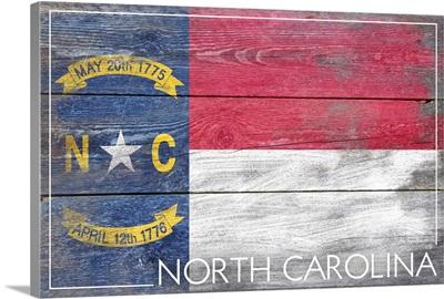 North Carolina State Flag, Barnwood Painting