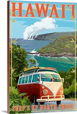 North Shore, Hawaii, Surf's Up, VW Van Coastal