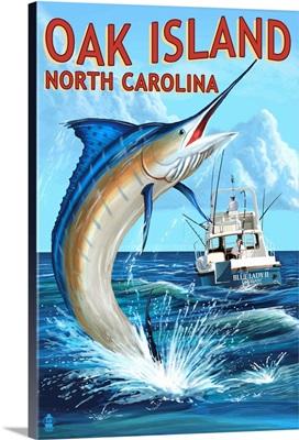 Oak Island, North Carolina, Marlin Fishing Scene