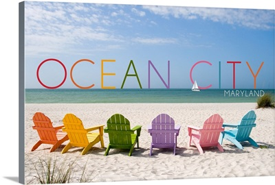 Ocean City, Maryland, Colorful Beach Chairs
