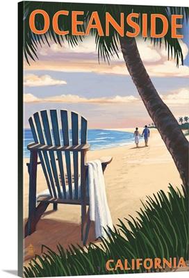 Oceanside, California, Adirondack Chair on the Beach