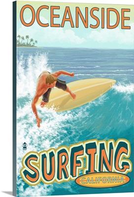 Oceanside, California, Surfer Scene
