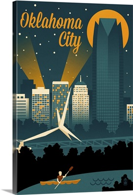 Oklahoma City, Oklahoma, Retro Skyline