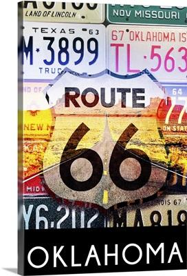 Oklahoma, Route 66 License Plates