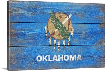 Oklahoma State Flag, Barnwood Painting