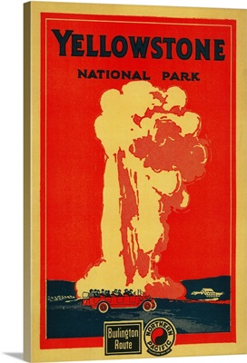 Old Faithful Advertising Poster, Yellowstone National Park