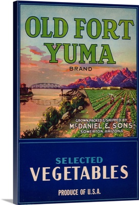 Old Fort Yuma Vegetable Label, Somerton, AZ
