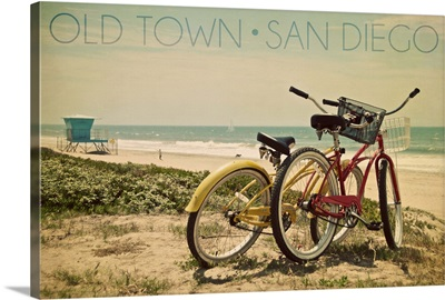 Old Town, San Diego, California, Bicycles and Beach Scene