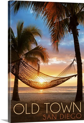 Old Town, San Diego, California, Hammock and Sunset
