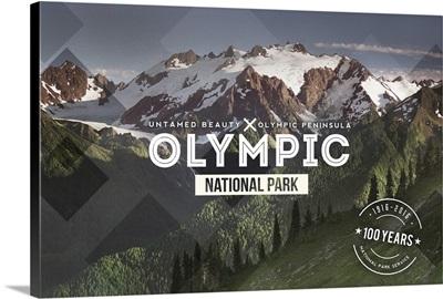 Olympic National Park, Washington, Rubber Stamp