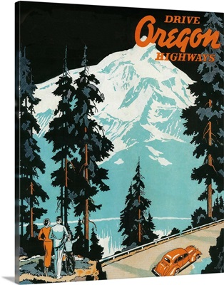 Oregon Highways Advertising Poster, Oregon