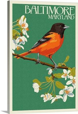 Oriole Letterpress - Baltimore, MD: Retro Travel Poster