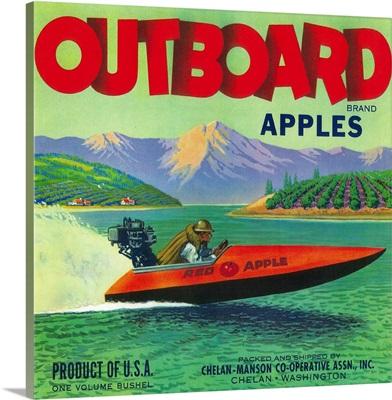 Outboard Apple Label, Chelan, WA