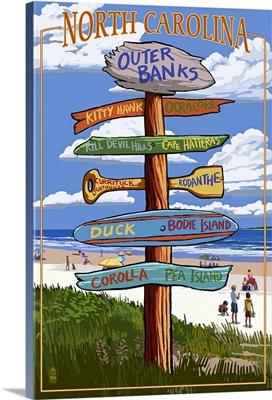 Outer Banks, North Carolina, Destination Sign
