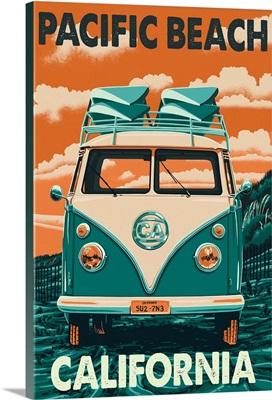 Pacific Beach, California, VW Van